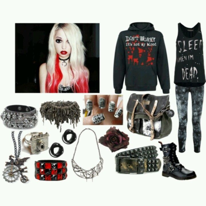 scene outfits polyvore | Scene/Punk/Goth outfit | Polyvore ...