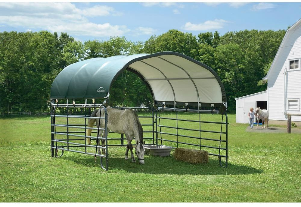 Shelterlogic corral canopy/shelter for horses, livestock