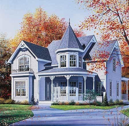 Plan 2134dr Timeless Victorian Meets Modern Needs In 2021 Victorian House Plans Victorian Homes Queen Anne House