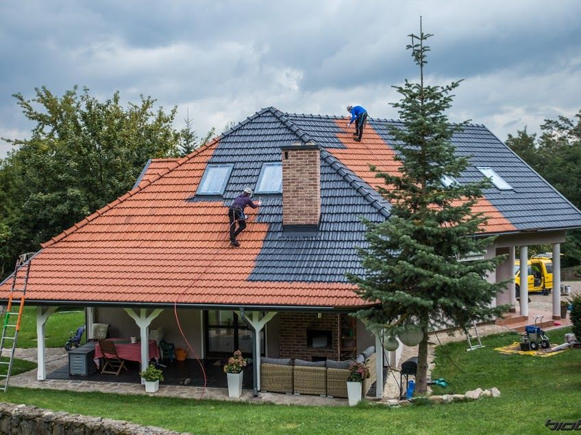 Painting Concrete And Ceramic Roof Tiles Www Grupabiotop Pl Red Brick Tiles Roof Paint Concrete Roof Tiles