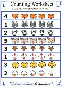 counting and circling objects worksheet preschool worksheets preschool worksheets preschool. Black Bedroom Furniture Sets. Home Design Ideas