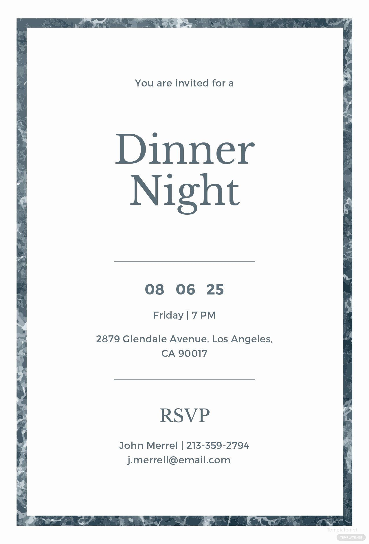 Dinner Party Invite Template Best Of Free Sample Dinner Invitation