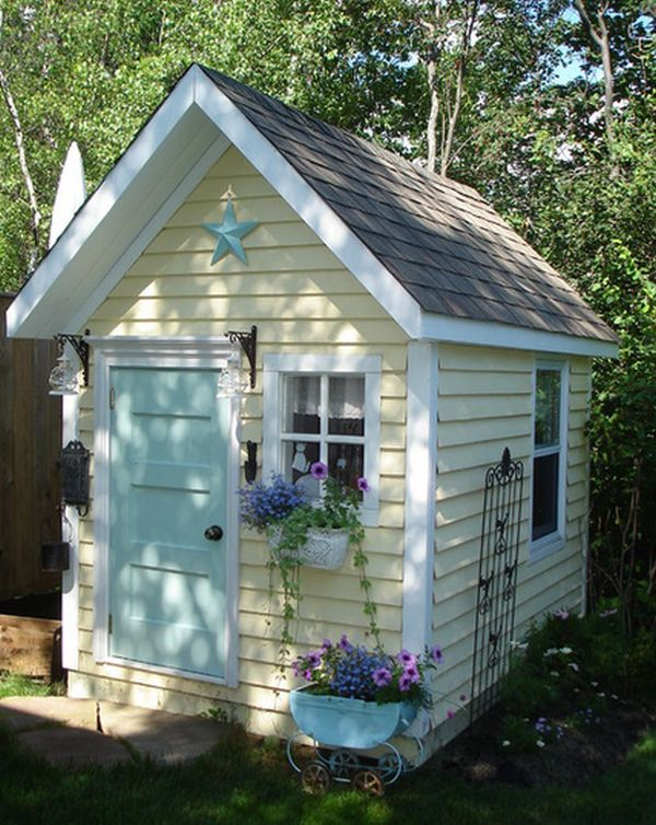 Garden Shed Inspiration And Attractive Design Ideas | Turquoise .