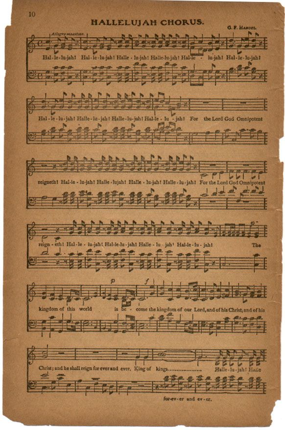Hallelujah Praise Songs Sheet Music Art Classical Music Composers