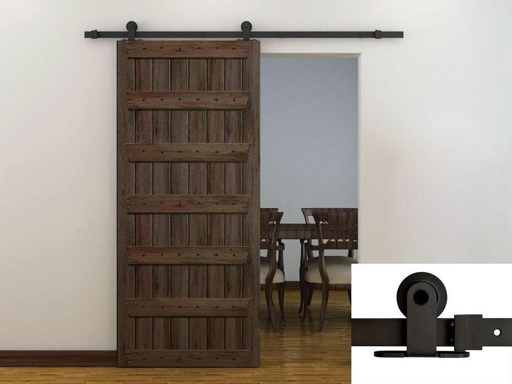 High Quality $77 U0026 Free Shipping 6FT Dark Coffee Modern European Style Barn Wood Sliding  Door Hardware Track