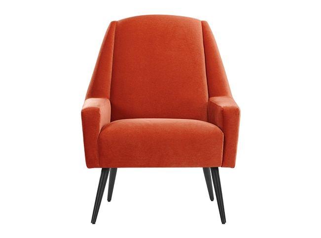 Fauteuil Retro Design.Roco Fauteuil Retro Oranje Fluweel Retro Design En Zo Fauteuil