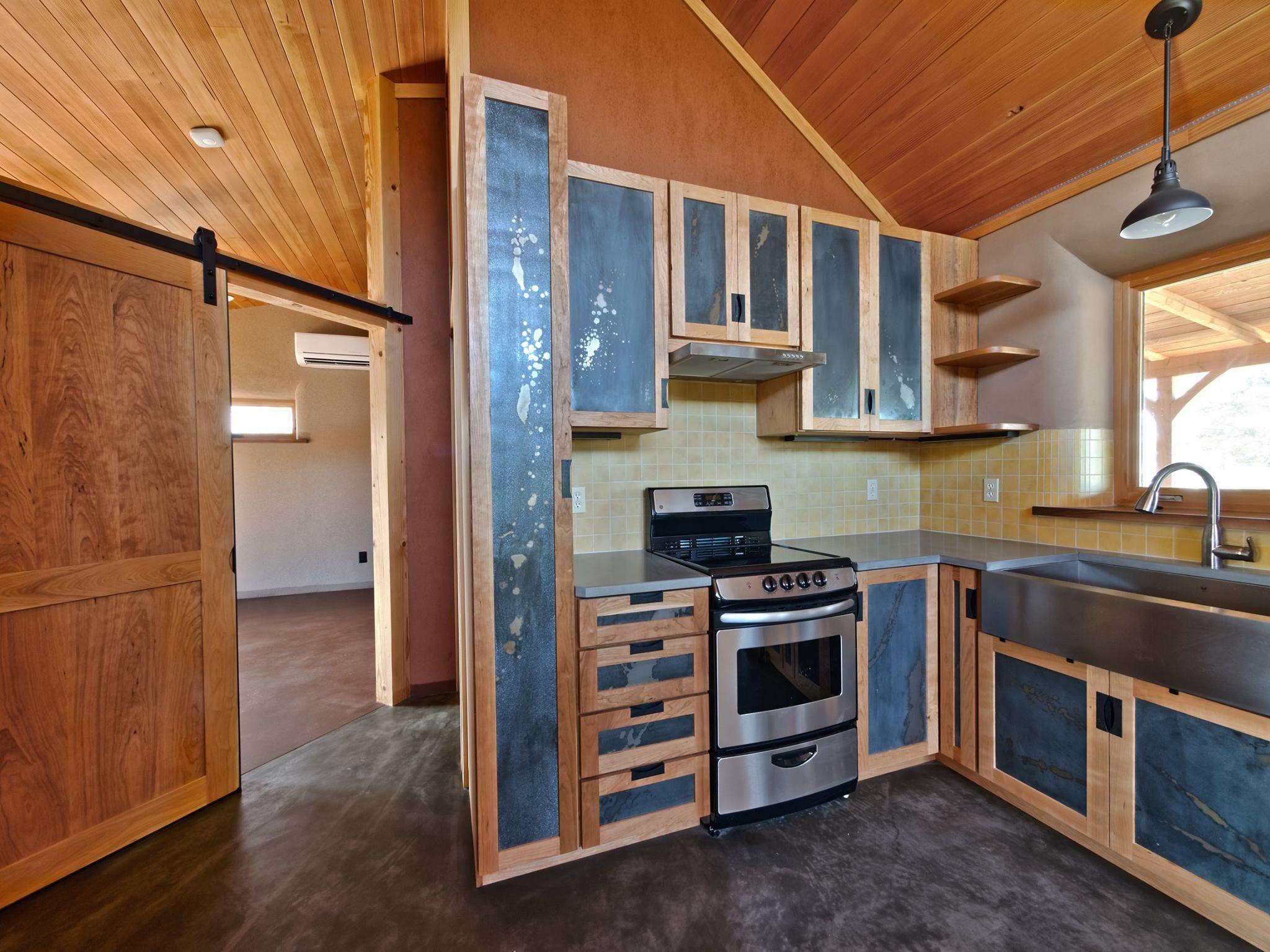 kitchen cabinets  concrete kitchen floor concrete