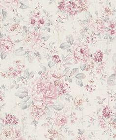 Vliestapete Rasch Blumen Vintage Cremeweiss Rosa 516029 Tapete Blumen Tapeten Floral Tapeten