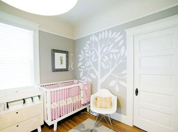 Murales infantiles de rboles decoraci n de la habitaci n for Decoracion paredes habitacion bebe nina