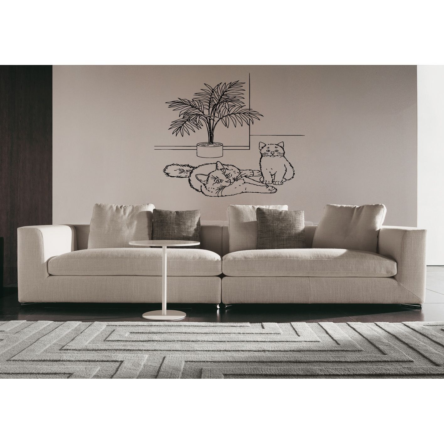 Birman Cat Breed With Palm Wall Art Sticker Decal