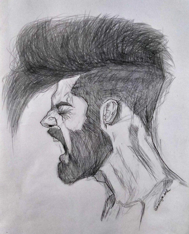 Insta Amannagar Artist Man Sketch Human Sketch Beard Sketch
