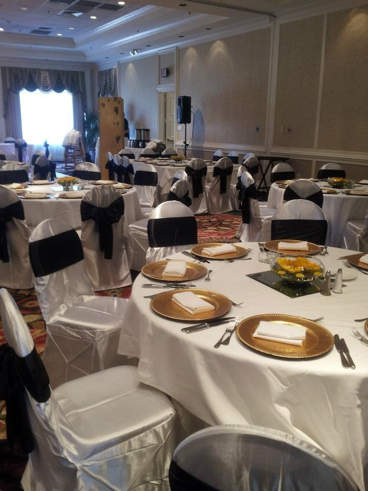 Standard banquet chair covers in Satin material local