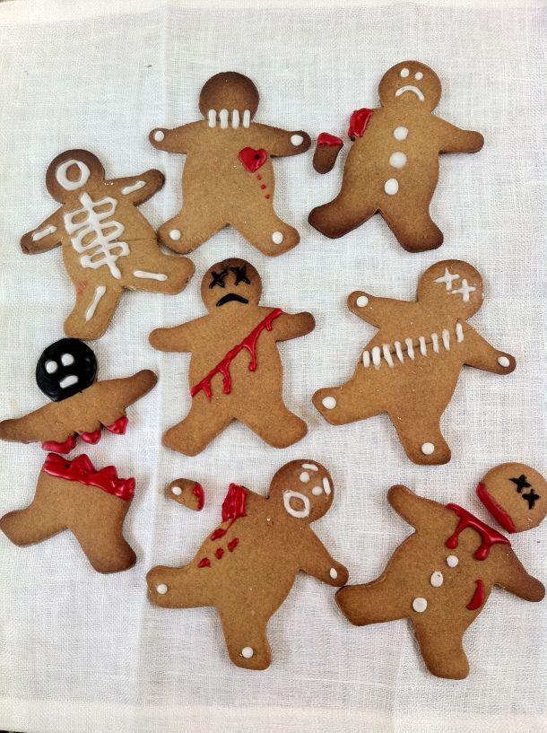 gingerbread halloween gingerbread men - Halloween Gingerbread Cookies