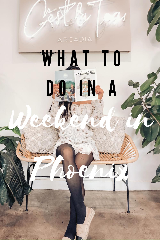 What to do for a weekend in Phoenix, Arizona. #phoenixarizona #weekendgetaway #scottsdale #daytrip