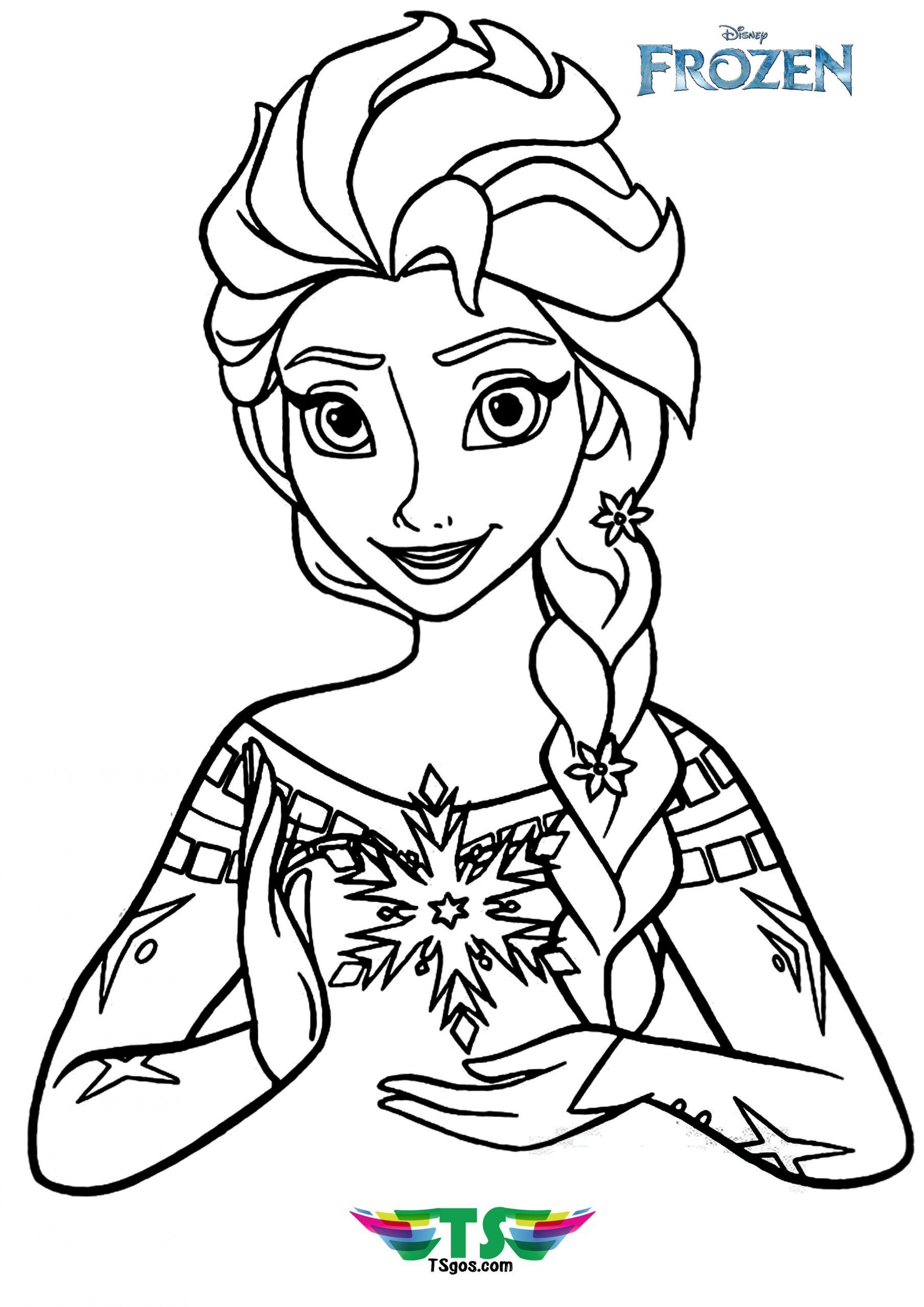 Beautiful elsa coloring page in 2020 elsa coloring pages