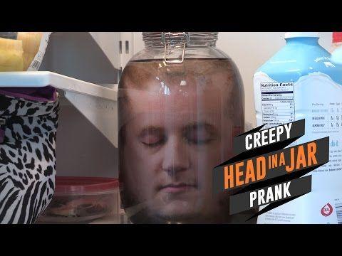 Quick Look: Creepy Head in a Jar Prank - YouTube | Head in ...