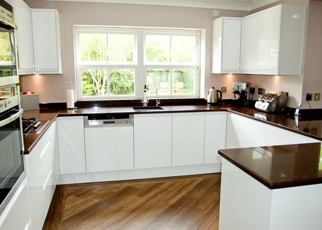 Find This Pin And More On Modern Kitchen Design By Sean_r2000. Handleless  White Gloss Kitchen