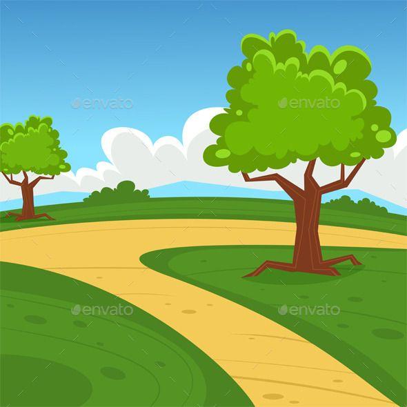 Cartoon Landscape 배경