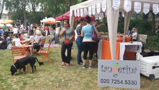 Tangerina Coffee Shop and some of the other stalls at Jazz on the Green 2015