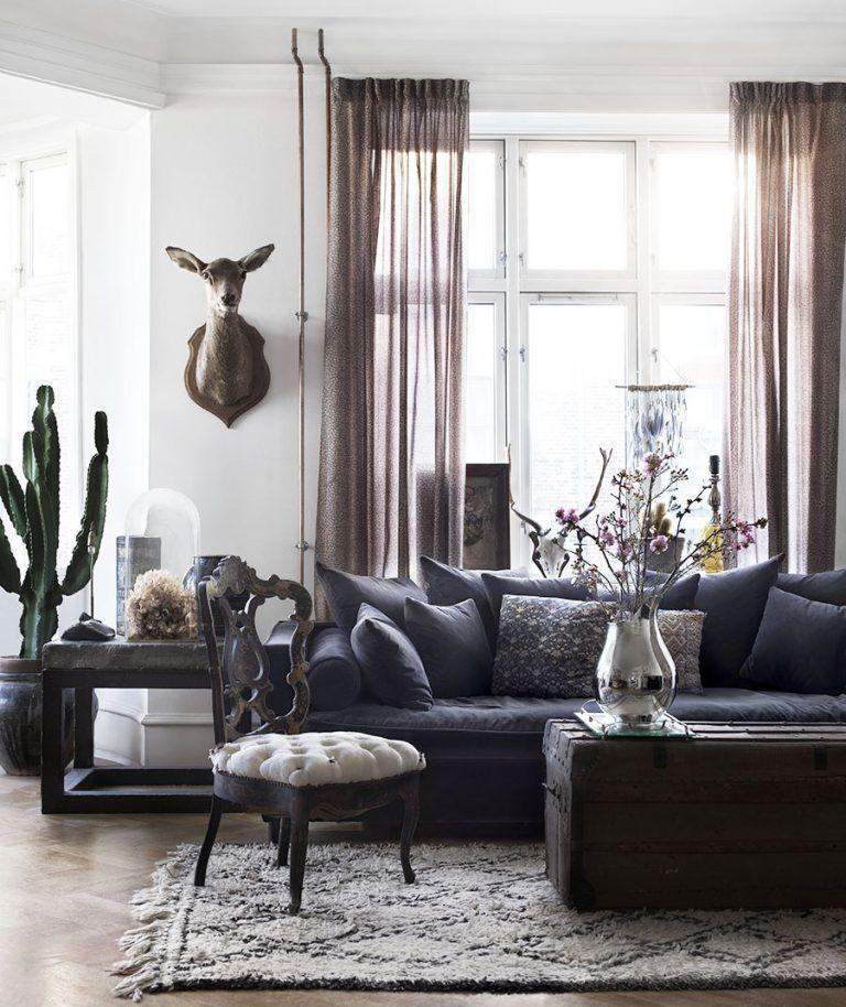 Appartement bohème à Copenhague   Appartement bohème, Deco fait maison et Salon vintage moderne