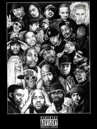 Hip Hop Legends Hip Hop Poster Rap God Music Poster