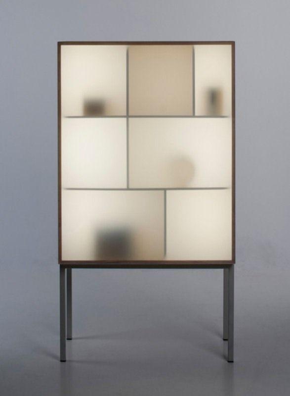 Genial Modern Reinterpretation Of A Traditional Glass Cabinet By Stine Knudsen