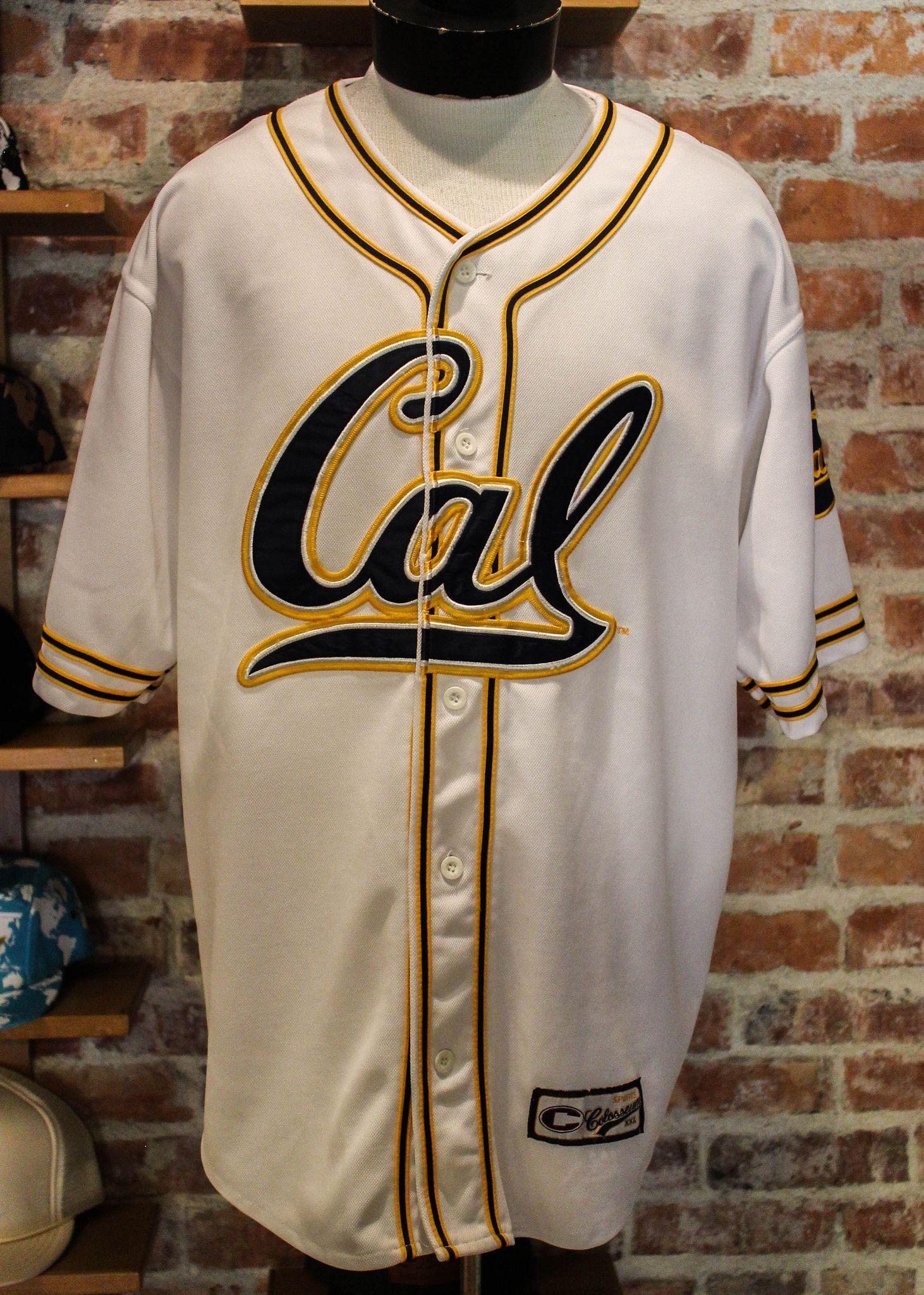 pretty nice 96aa4 4cb7d UC Berkley Cal Golden Bears Baseball Jersey Youth XXL White ...