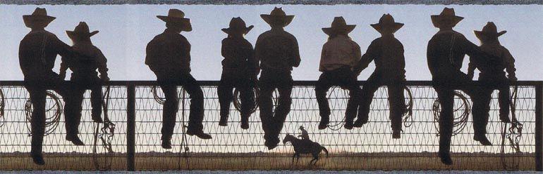 WESTERN COWBOY RANCH HORSE Wallpaper Border EL49006B - WESTERN COWBOY RANCH HORSE Wallpaper Border EL49006B Cowboy