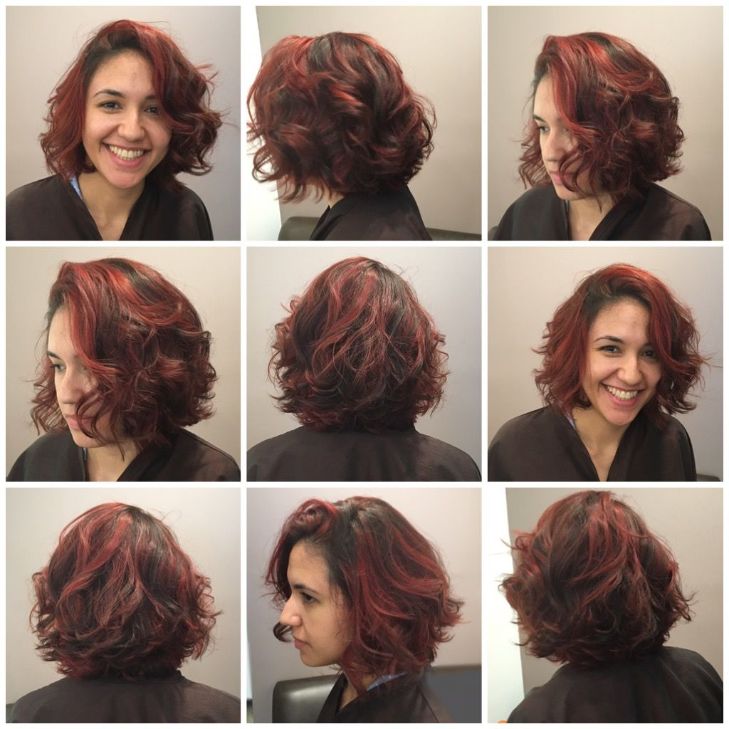 Short and chic with a touch of red bobs pinterest balayage