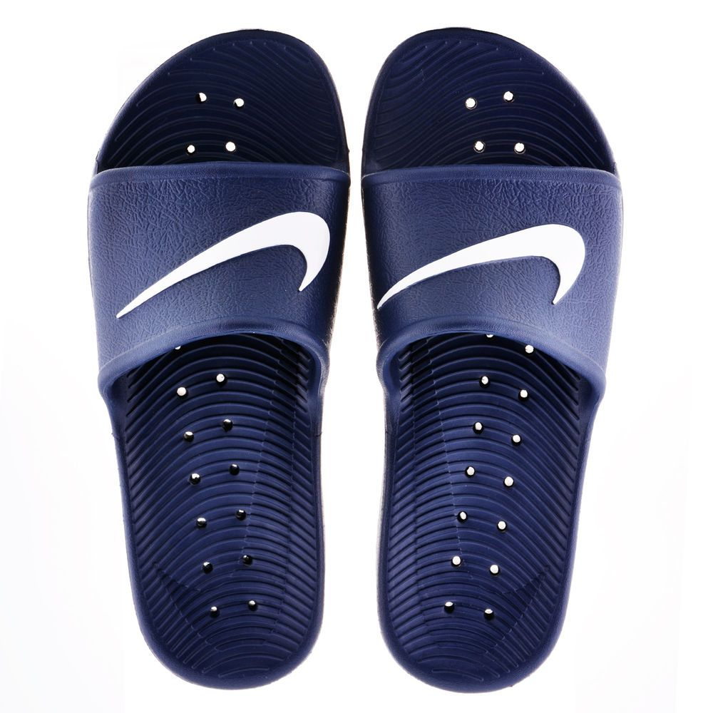 new concept a177e 3d902 New Nike Kawa Shower Men s Slide Sandals Navy 832528-400 All size New Flip  Flop  Nike  FlipFlops