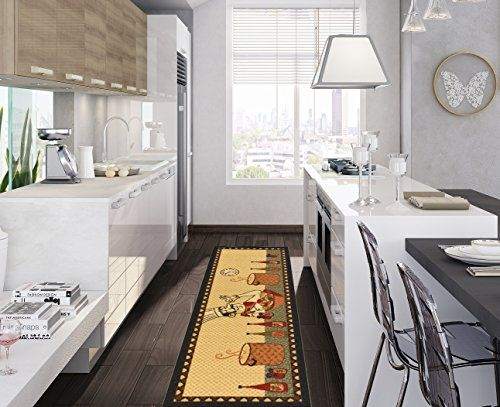 Ottomanson Siesta Collection Kitchen Chef Design Machinewashable Stunning Kitchen Runner Rugs Design Decoration