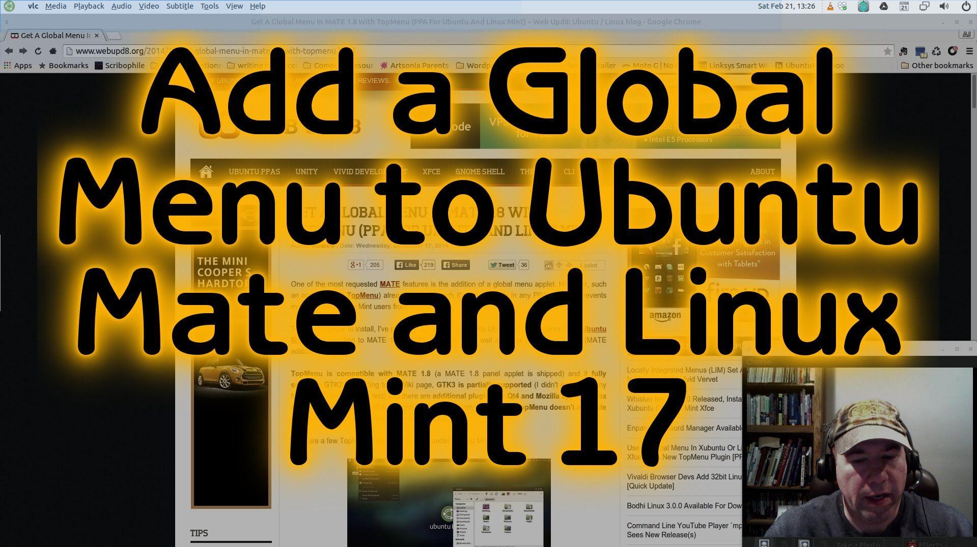 Install a Global Menu on Ubuntu Mate and Linux Mint 17 | LINUX