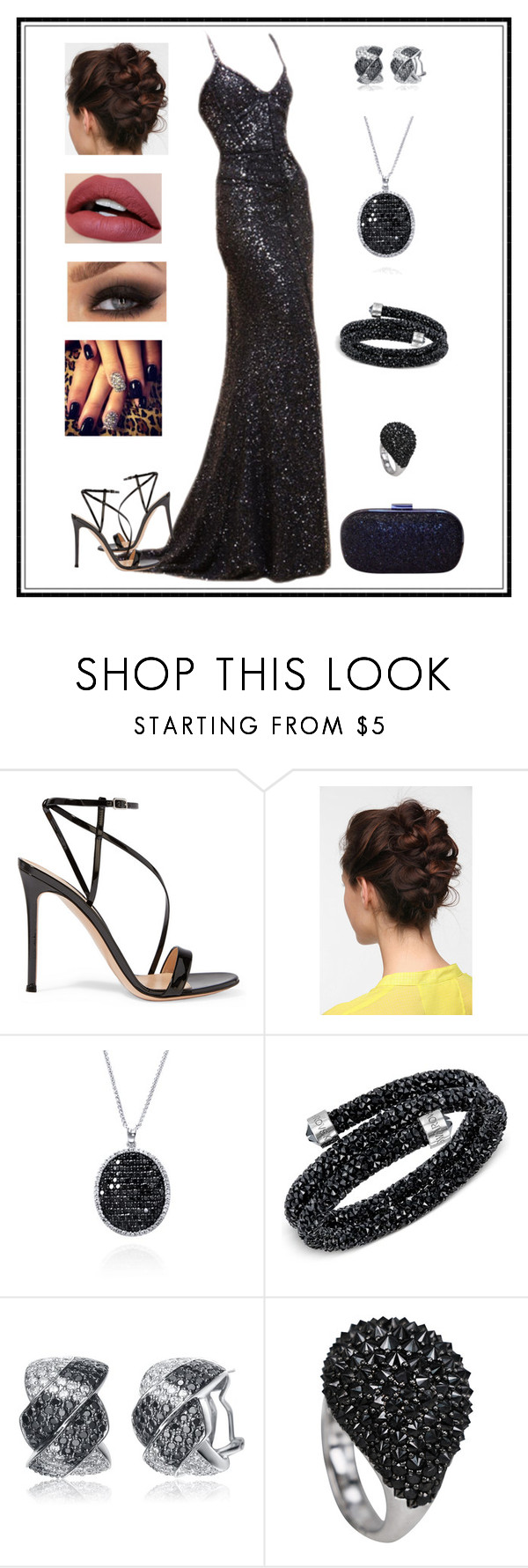 """""""Untitled # 224"""" by binasa87 ❤ liked on Polyvore featuring Gianvito Rossi, Effy Jewelry, Swarovski, Collette Z and Anya Hindmarch"""