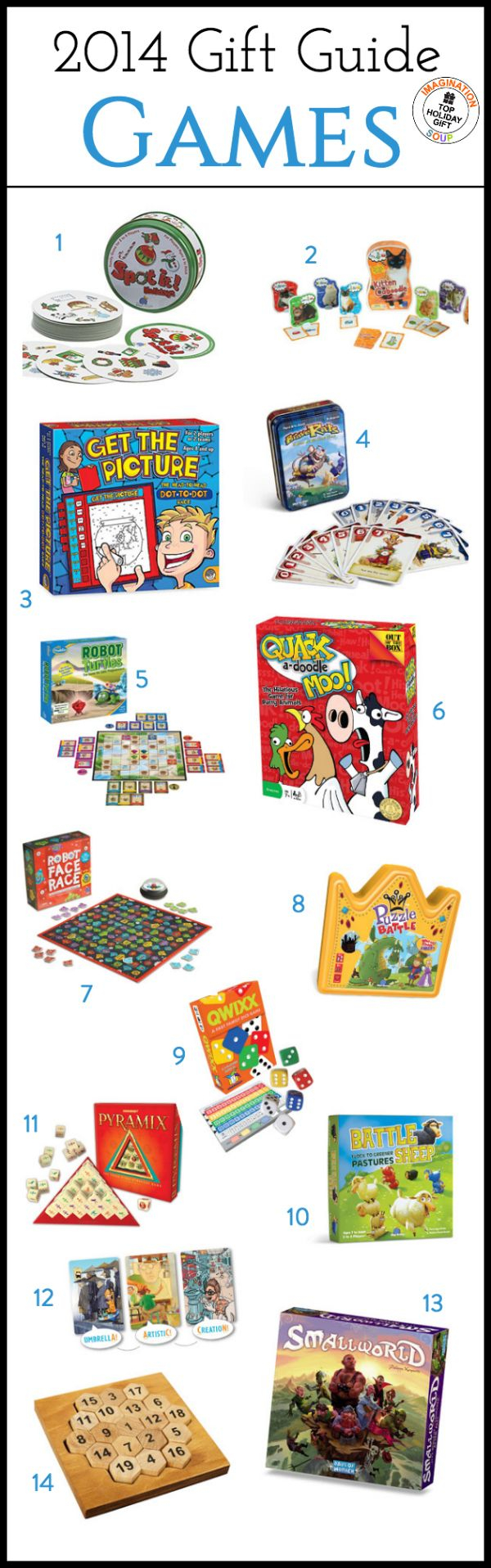 From card games to board games, there are the best learning games for kids from 2014. All are educational games that make kids think, use strategies, solve problems, and improve skills.