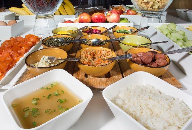 New York Hilton Midtown Herb N Kitchen Asian Breakfast Buffet