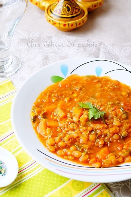 Ragoût de lentilles à lalgérienne (مرقة العدس