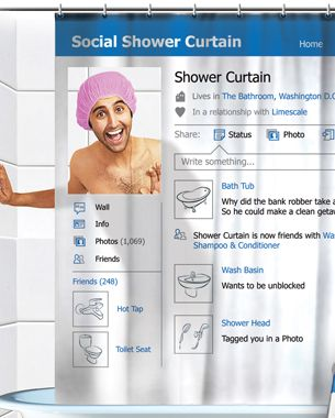 Social Shower Courtain.Social Shower Curtain Cool Stuff Funny Shower Curtains