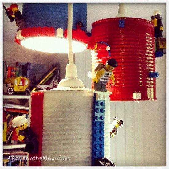 IKEA Hemma with LEGO lampshade IKEA Hacks for Kids Pinterest