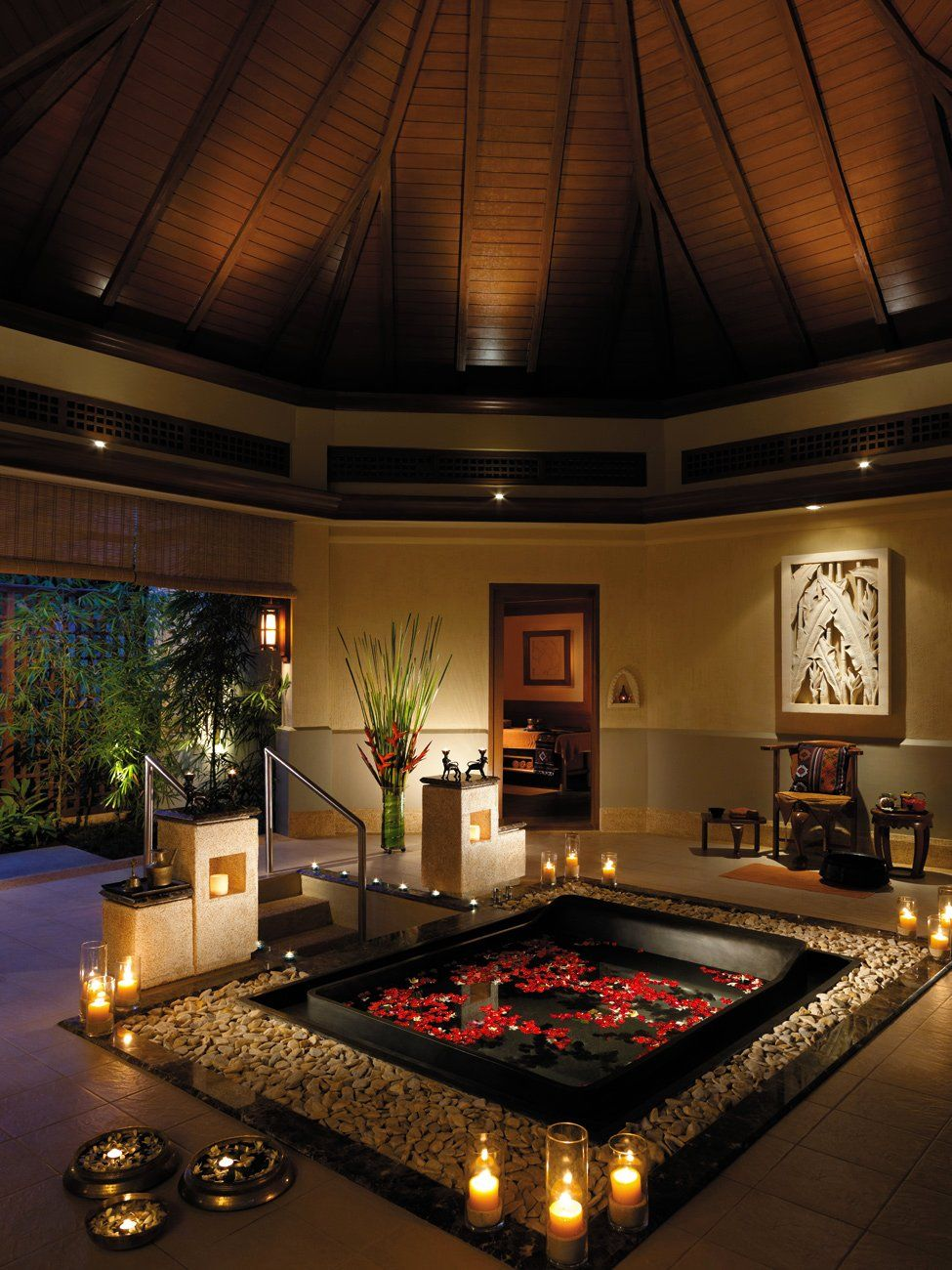 Luxurious Hot Tub Romantic Bathrooms Dream Bathrooms Beautiful Bathrooms