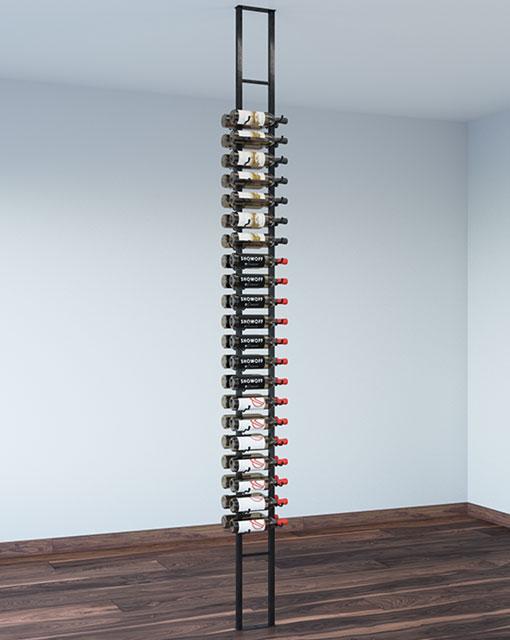 42 Bottle Floating Wall Wine Rack Kit 2 Sided Wine Rack Wall Wine Rack Storage Cellar Design