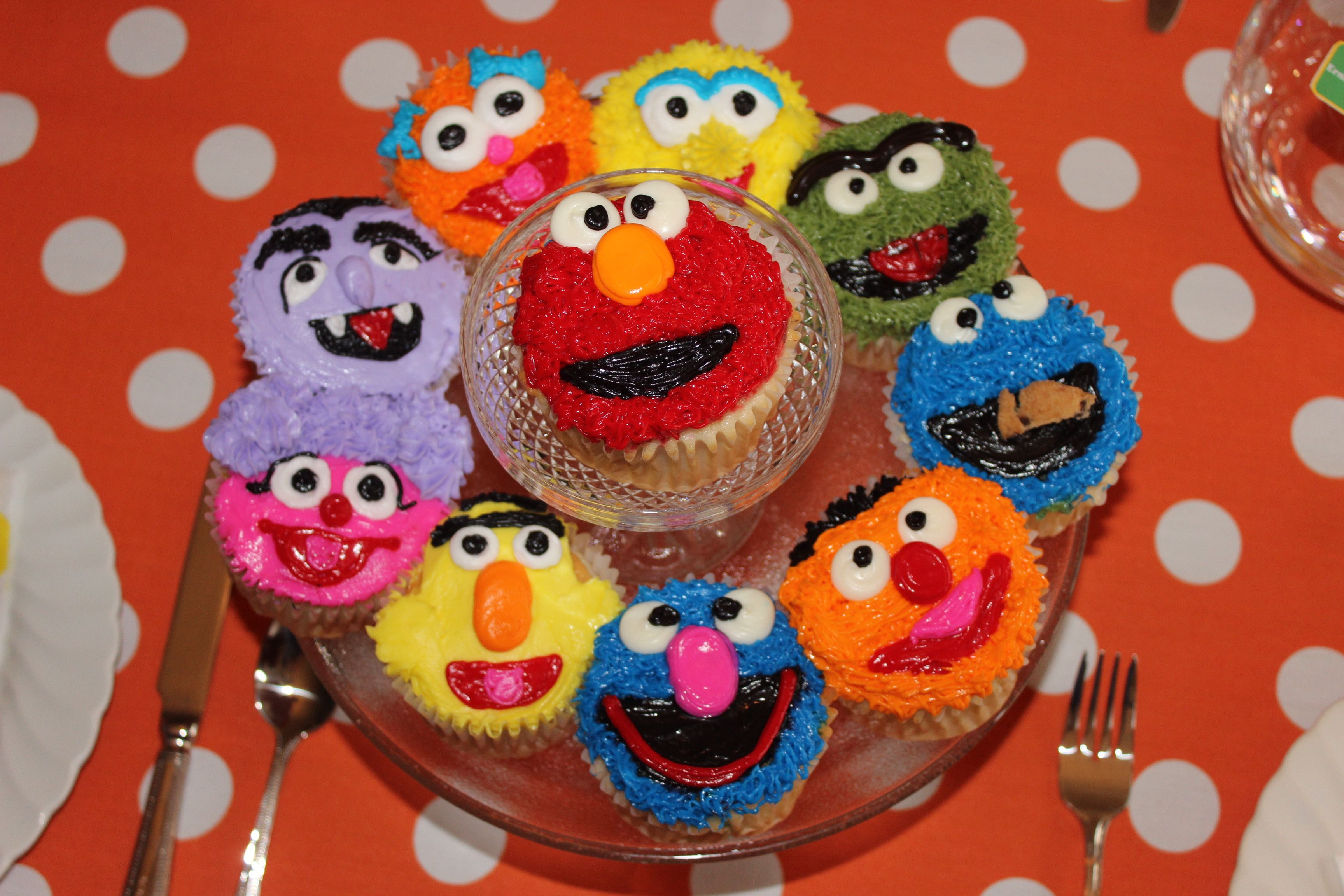 Second Birthday Party Sesame Street Party Gabe S Birthday Elmo Cupcakes And More In Lincoln Ne Elmo Cupcakes Sesame Street Party Sesame Street