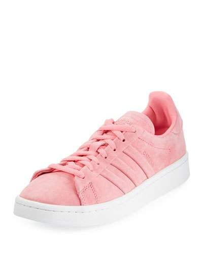 low priced 719a3 deff6 Adidas Campus Stitch  Turn Suede Lace-Up Sneakers, Chalk Pink