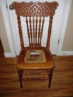 Recane A Chair Need To Fix The Awesome Antique Chair That I Got At Herr Becker S Rummage Sale For 1 0 Refinished Chairs Diy Furniture Chair Chairs Repurposed