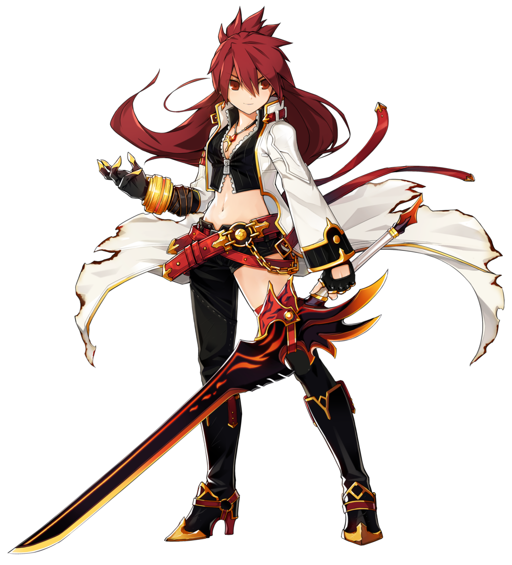 BlazingHeartPortraitF3.png Character art, Elsword, Anime