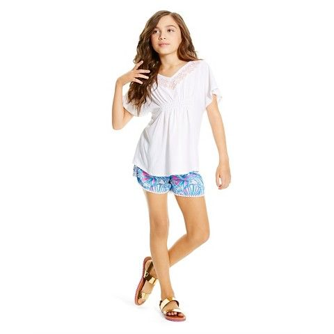Lilly Pulitzer for Target Girls' Embroidered Top - White