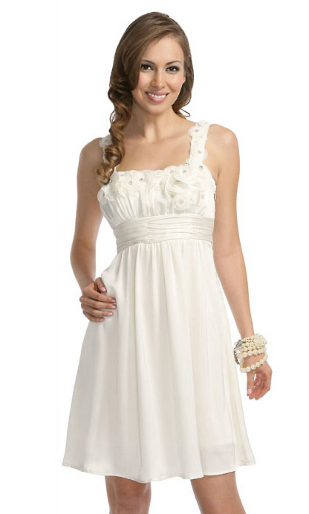knee length white dresses for juniors | Gommap Blog
