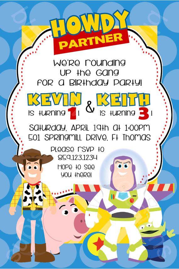 Toy Story, Woody & Buzz Disney/ Pixar Printable Birthday Party ...