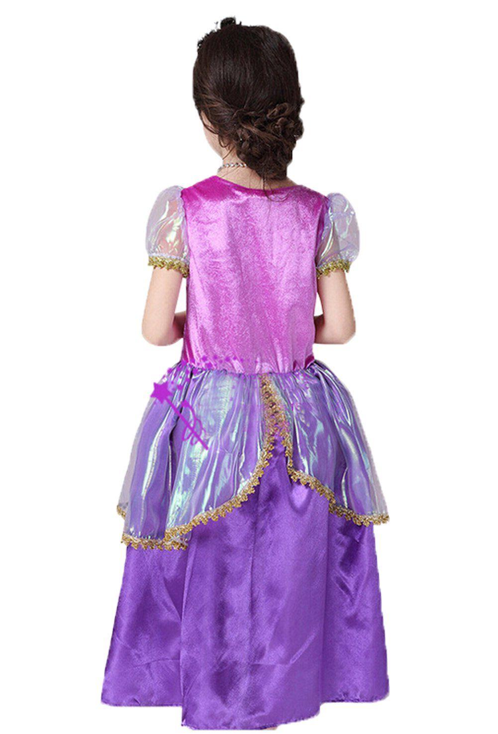 Girls purple new princess dress halloween christmas