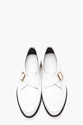 MCQ ALEXANDER MCQUEEN White monk strap Brogued Creepers
