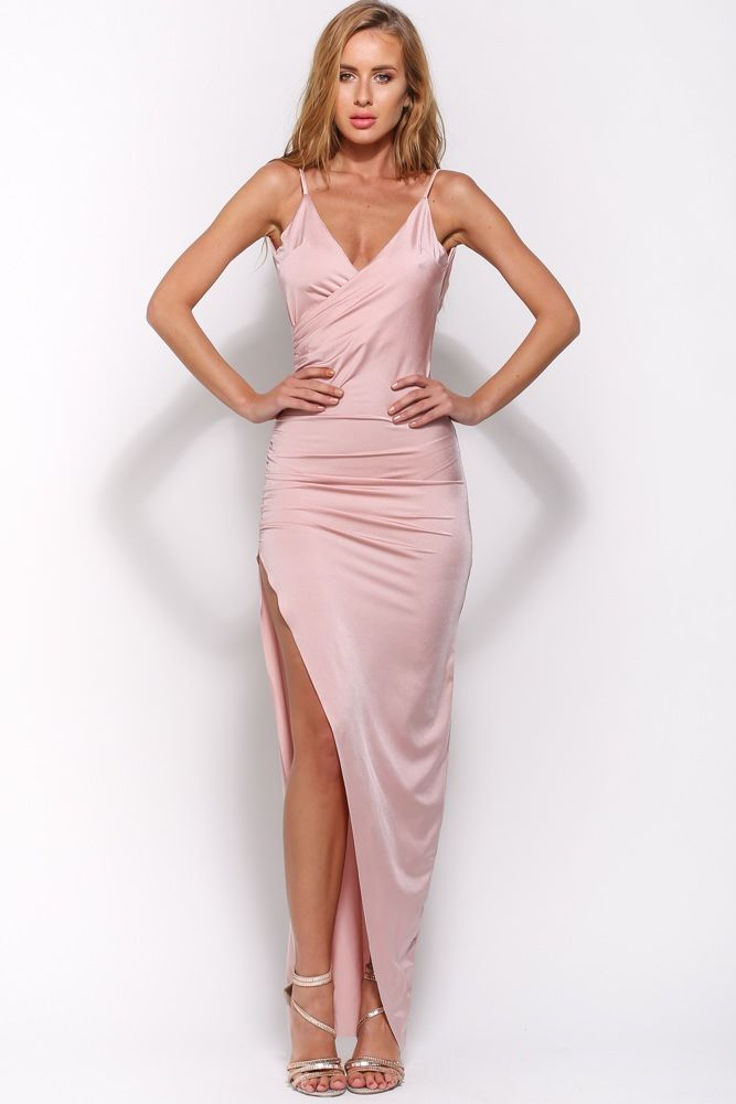 HelloMolly | Nice To Meet You Maxi Dress Mauve - New In | PARTY ...